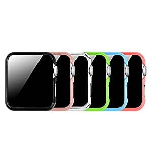 [6 Color Pack] Fintie for Apple Watch Case 38mm, Slim Lightweight Polycarbonate Hard Protective Bumper Cover for All Versions 38mm Apple Watch Series 3 (2017)/Series 2/Series 1 Sport & Edition