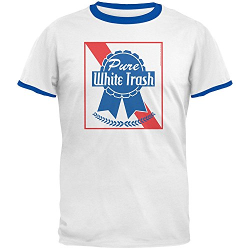 Old Glory 4th of July Pure White Trash White/Royal Men