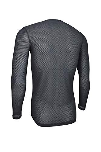 Dinamik Evo Pro Men's Cycling Base Layer Long Sleeve Undershirt (Black, Small) by Dinamik (Image #2)