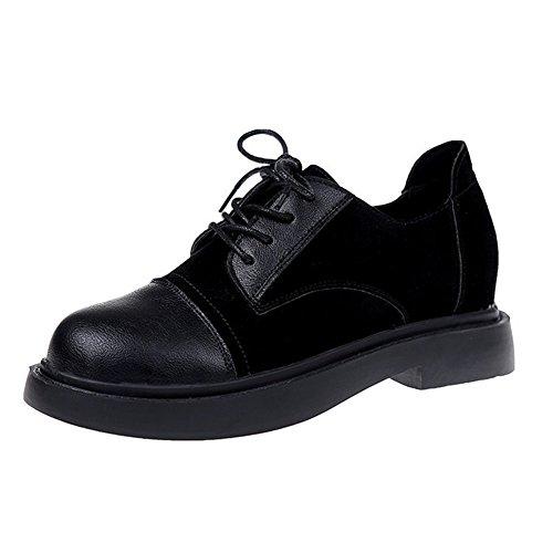 T-juli Damesschoenen Van Klassieke Oxfords - Comfortabele Mocassineschoenen Met Ronde Neus En Lage Neus, Zwart