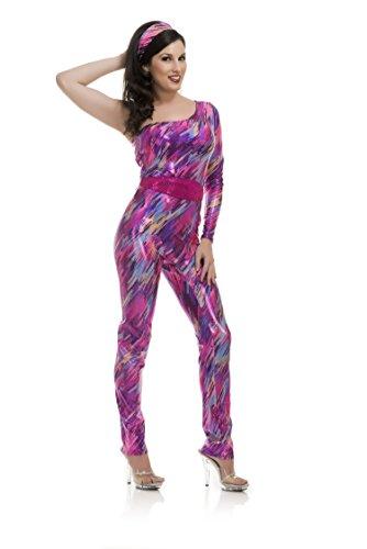 Charades Women's Sweatin' to The 80'S Costume, Fuchsia, Small