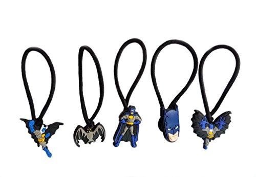 [AVIRGO 5 pcs Elastic Hair Bands Hairband Hairbands Ponytail Holders Set # 120 - 5] (Dc Comics Penguin Costumes)