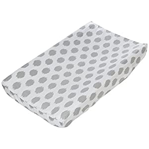 Sweet Potato Swizzle Changing Pad Cover, Pink/Grey/White