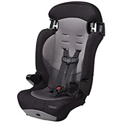 The Cosco Finale DX 2-in-1 Combination Booster Car Seat may be the last car seat you will ever need. This high-back 2-in-1 car seat features a five-point safety harness that converts to a belt-positioning booster seat as your child grows. Wit...