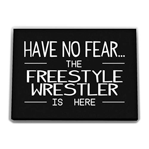 Idakoos Have no Fear The Freestyle Wrestler is here Canvas Wall 12