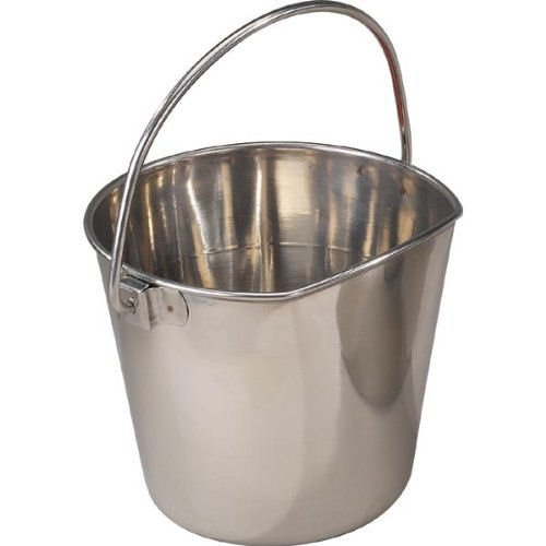 Stainless Steel Flat Sided Pet Pail 1 Quart