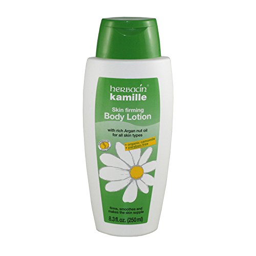 Herbacin Kamille Skin Firming Body Lotion with Rich Argan Nut Oil for Women, 8.3 Ounce