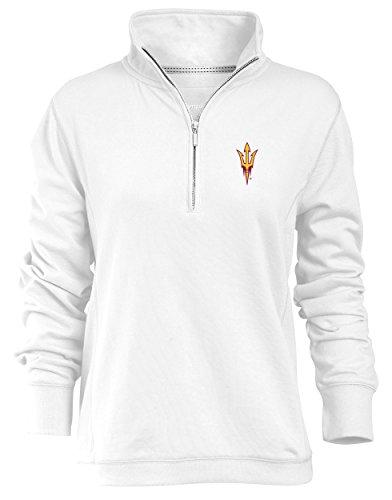NCAA Arizona State Sun Devils Relaxed Quarter Zip Pullover, White, - Sweatshirt White Arizona