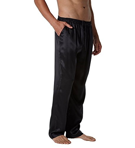Magic Silk Silk Charmeuse Lounge Pant (1804) L/Black