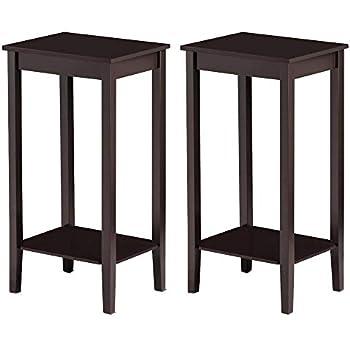 Amazon.com: topeakmart Madera mesa de centro Tall Mesita de ...