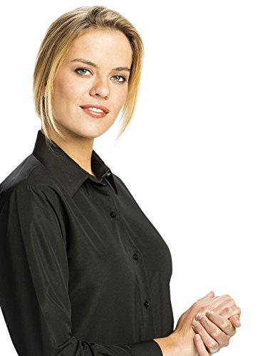 Microfiber Blouse - Luxe Microfiber Women's Button-Down Long Sleeve Shirt Regular Fit Spread Collar Fashion Cuff - Style Debi