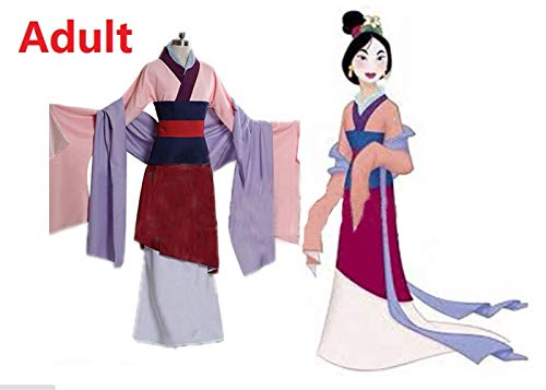 COSSHOW Adult Hua Mulan Cosplay Princess Costume Women Costumes Girl Adults Dress Halloween Disfraz Mulan Kid Children