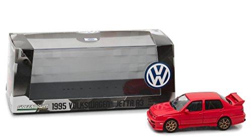 1995 Volkswagen Jetta A3 Red 1/43 Diecast Model Car by Greenlight (43 Red Diecast Model)