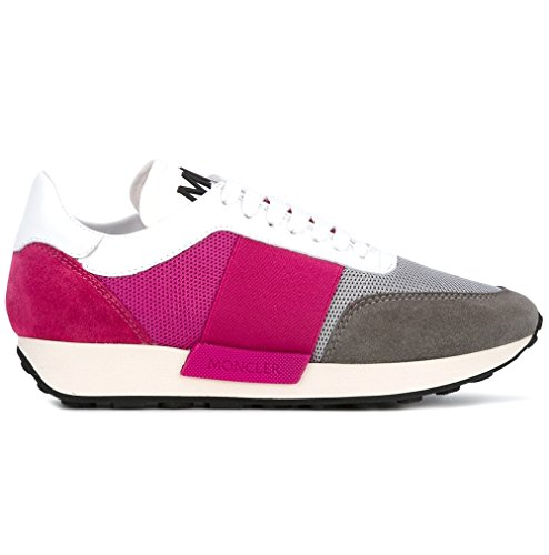 Sneakers 01881 09a Donna Scarpe C1 Moncler Louise Grigio Rosa 2028100 5qUBw6x