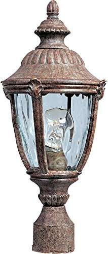 Cheap Maxim 3180WGET Morrow Bay Cast 1-Light Outdoor Pole/Post Lantern, Earth Tone Finish, Water Glass Glass, MB Incandescent Incandescent Bulb , 40W Max., Dry Safety Rating, Standard Dimmable, Glass Shade Material, 5760 Rated Lumens