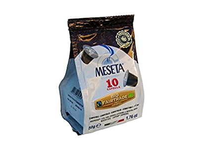 Nespresso Compatible Meseta Coffee Capsules 100 Capsules of Gourmet Organic(European certified) 100% Arabica Coffee Espresso Compatible with Nespresso Machine