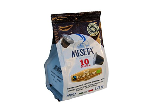 Nespresso Compatible Meseta Coffee Capsules . 100 Capsules of Gourmet Organic 100% Arabica Coffee Espresso Compatible with Nespresso Machine