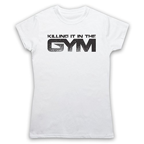 My Icon Art & Clothing Killing It In The Gym Fitness Damen T-Shirt Weis
