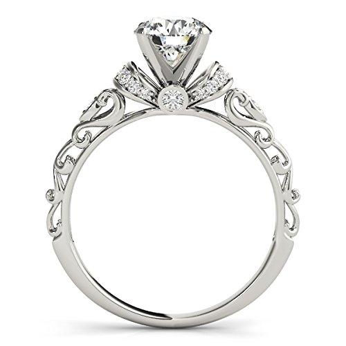 Allurez-Diamond-Antique-Style-Engagement-Ring-Palladium-087ct