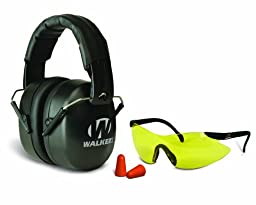 Walkers Game Ear EXT Plugs Safety Combo Kit, Black, Left/Right