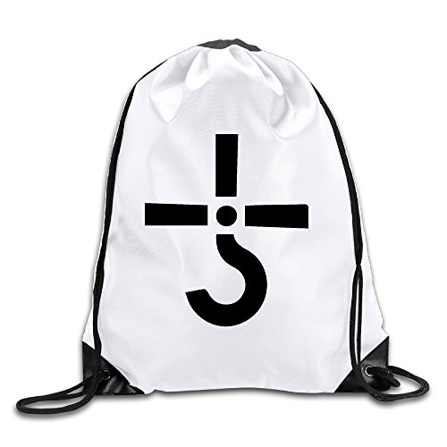 BYDHX Cult Band Logo Drawstring Backpack Bag White