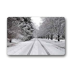 """Custom winter snow Doormat Outdoor Indoor 23.6""""x15.7"""" about 59.9cmx39.8cm"""