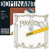 JSI Special 4/4 Violin String Set: Gold Label Ball-End E & Dominant A, D, and G Strings - Medium Gauge