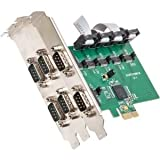 Syba Multimedia SI-PEX15040 6PORT PCI-E CARD RS-232 SERIAL REVISION 2.0 WITH EXAR CHIPSET