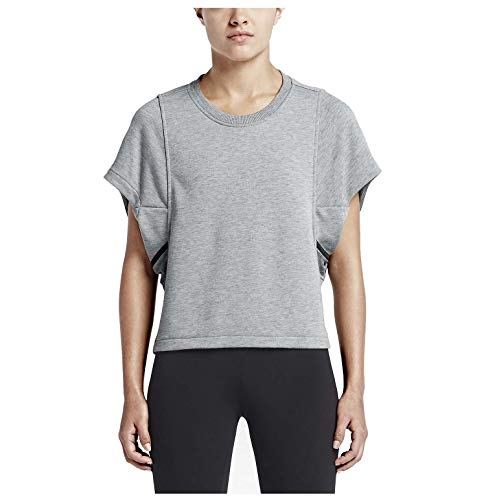 Nike Spandex Cover Up - Nike Women's X JFS Short Sleeve Cover Up Top-Grey-Large