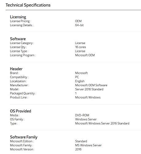 windows server 2016 standard 64 bit product key