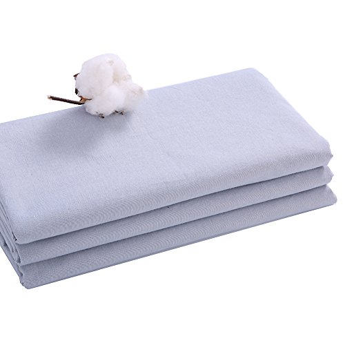 Pure color 100% cotton bed sheet,Coarse cloth bed sheets Simple Comfortable Hypoallergenic Student Children Queen sheets Twin Bed sheets set-Gray 200x230cm(79x91inch)