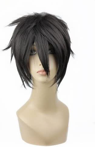 COSPLAZA cosplay peluca Sword Art Online Kirito corto de negro 30 ...