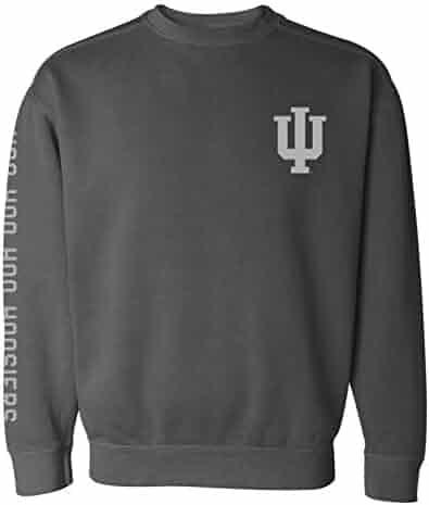 54a90f378ae UGP Campus Apparel Hoo Hoo Hoosiers - Indiana University Ringspun Crewneck  Sweatshirt