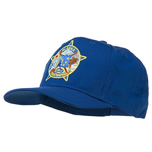 E4hats Alaska State Troopers Patch Cap - Royal OSFM