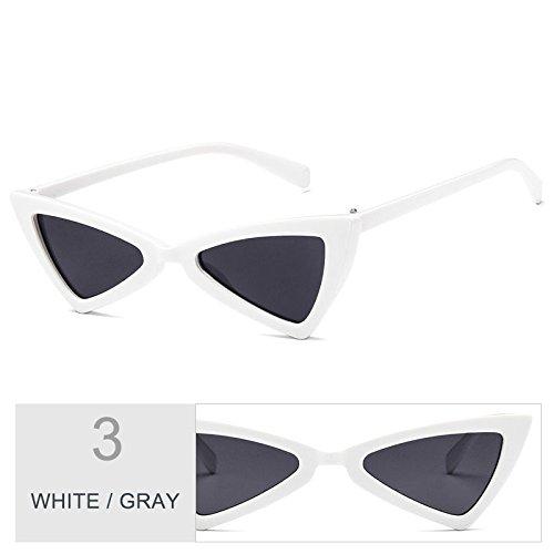 Blanco De De Negro Uv400 Gafas Gafas De Ojo WHITE Atrás GRAY Sol Gato TIANLIANG04 Señor Gafas Gris Sol Del Mujeres Vintage De Mujer qawHEE