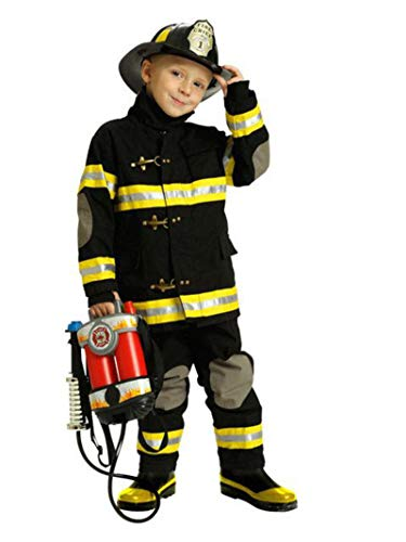 Jr. Fire Fighter Suit with Helmet, Size 2/3