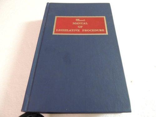 Mason's Manual of Legislative Procedure