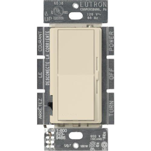 Lutron DVSCCL-153P-ES Diva Dimmable CFL/LED Dimmer, - Lutron Satin Colors