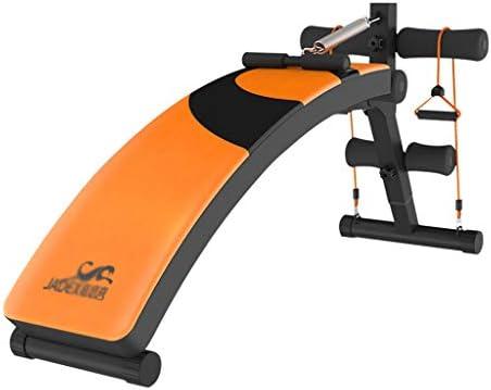 HHOO - Fitness THS@ Banco Abdominales Plegable - Banco De Gimnasio AmpliacióN del Cojinete De Ajuste De Escalera De 4 VíAs 551 LB Negro + Naranja 02: Amazon.es: Hogar