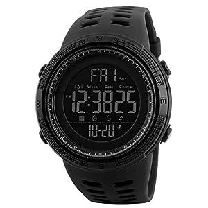 Reloj Deportivo Digital de Moda para Hombre, Resistente al Agua, Militar, cronómetro, Cuenta atrás, fácil de Leer, 1 Unidad, Color Negro 41IbWmd8fSL