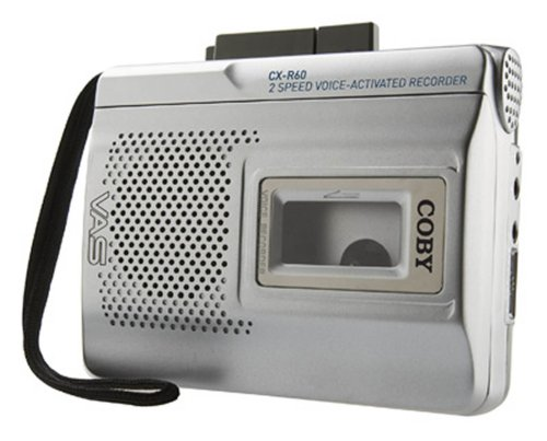 Coby CX-R60 Voice Activated Cassette Recorder