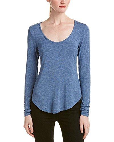 Splendid Slub Jersey Top (Splendid Women's Slub Jersey Open Back Top Heather Riviera Blue Shirt)