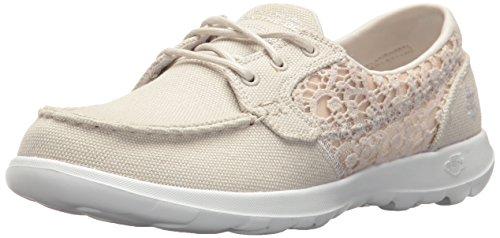 Women's Go Walk Lite-15431 Boat Shoe,natural,8 M US ()