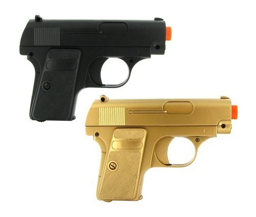 double eagle twin p328 spring pocket pistols airsoft guns black and gold(Airsoft Gun)