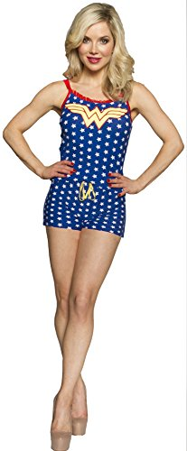 Wonder Woman Cami Set - DC Comics Wonder Woman Sleeveless Cami Romper (Large)