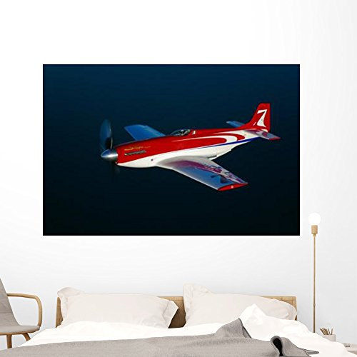 Strega Highly Modified P-51d Wall Mural by Wallmonkeys Peel and Stick Graphic (60 in W x 40 in H) ()