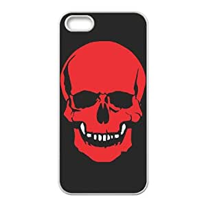 iPhone 5 5s Cell Phone Case White Skull Cover SAT Phone Case Personalized Plastic