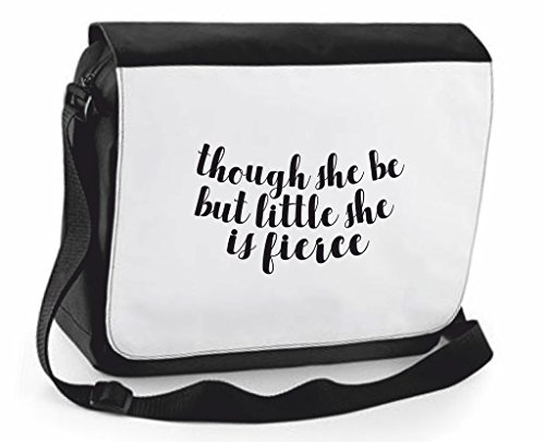 Handbag Be Positive Compartment Statement Fierce Little Crossbody Black Though Shoulder She Messenger Traveling Case Is But Bag Large Cover Cute 6qwq50p