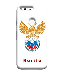 ColorKing Football Russia 23 White shell case cover for Google Pixel