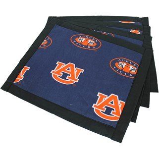 (Set of 12) - Auburn Tigers Placemats w/ border - Great for the Kitchen, or that Next Picnic or Tailgate Party! - Save Big By Bundling! - by College Covers (Image #1)